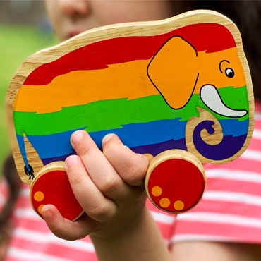 Rainbow elephants . . .