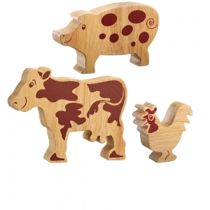 Wood Farm Animal Toy Goat