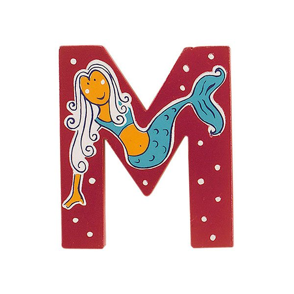 Fair Trade Wooden Pink Fairytale Letter M