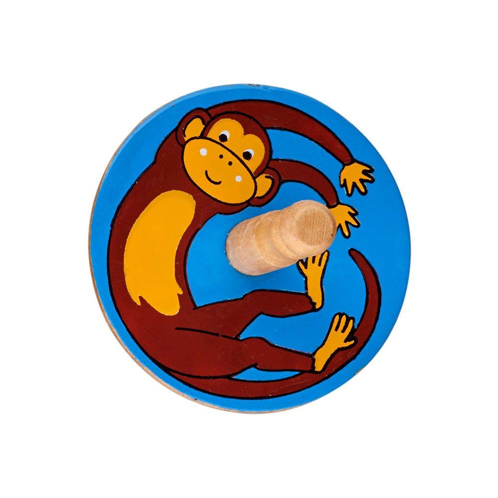 Fair Trade Wooden Monkey Spinning Top