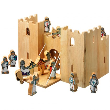 Castle playscene with 12 knights