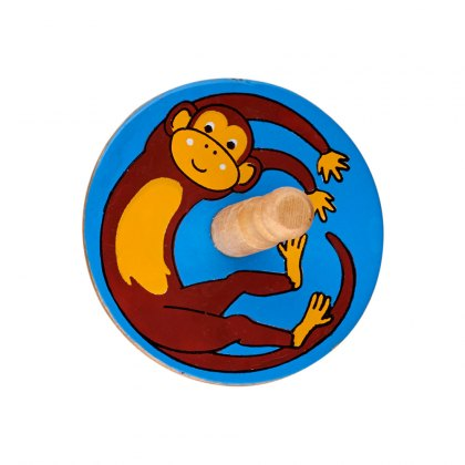 Monkey spinning top