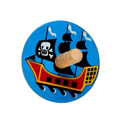 Pirate ship spinning top