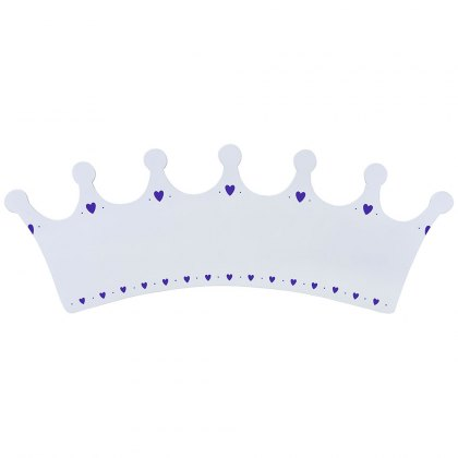 White crown plaque - large