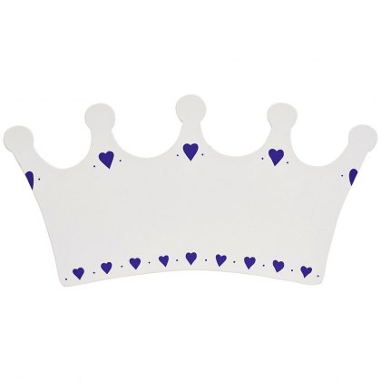 White crown plaque - small