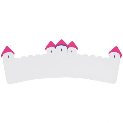 White and pink castle plaque - large