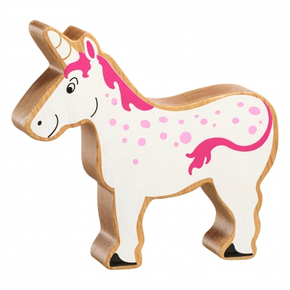 Natural pink and white unicorn