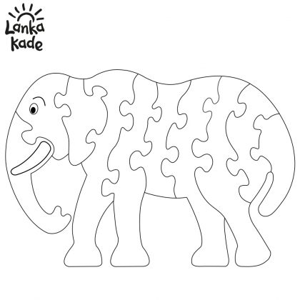 Elephant Jigsaw Colouring Sheet
