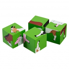 Farm animals block puzzle