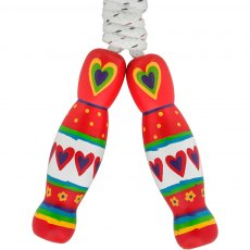 Red heart skipping rope
