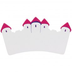 White/pink castle plaque - small