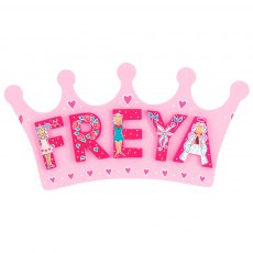 Pink crown plaque - small