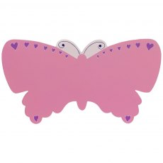 Pink butterfly plaque