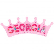 Pink crown plaque - large