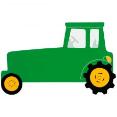 Green tractor plaque