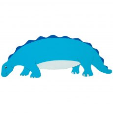 Blue dinosaur plaque