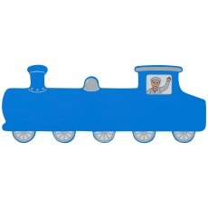 Blue train plaque - large