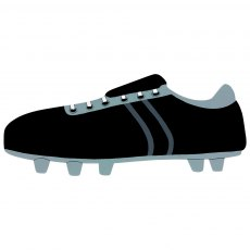 Black football boot plaque - large