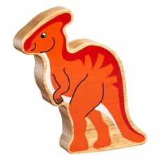 Natural orange parasaurolophus