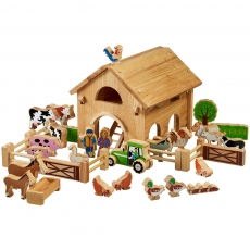 Deluxe farm barn set with colourful characters