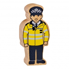 Natural yellow and black policeman - white skin