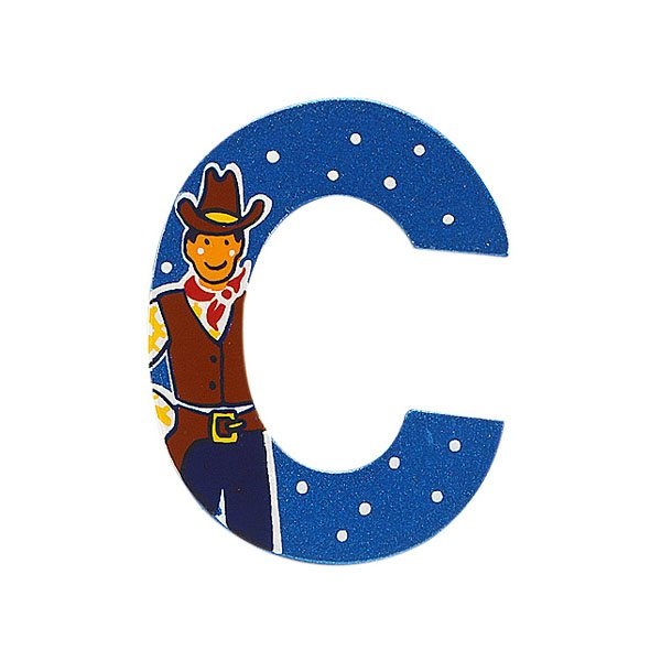 Fair Trade Wooden Blue Adventure Letter C