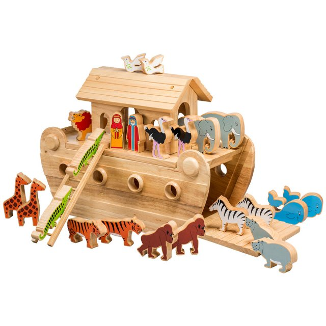 Deluxe Noah's ark with colourful characters