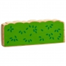 Colourful natural wood green hedge/crop toy for small world play with green leaf detailing