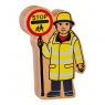 Natural yellow and black lollipop person